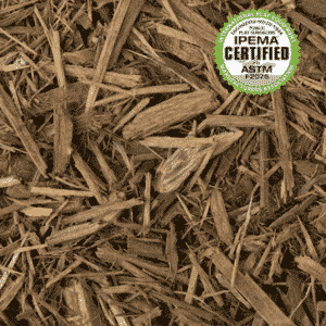 Playground Mulch, shredded pine mulch, IPEMA certified