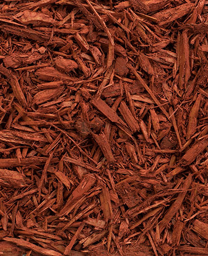 Red mulch, pine mulch